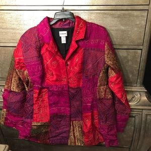 Chico's patchwork jacket